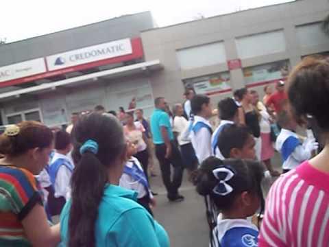 desfile escuela efrain tijerino chinandega nicaragua