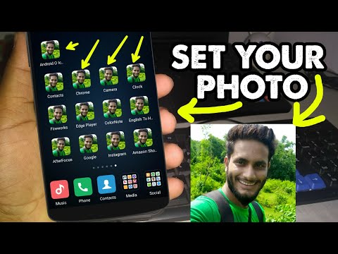 Android Trick || Set Your Photo In App Icons || Without Root || Icon Changer