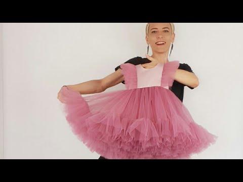 Как Сшить Платье, Платье с Крылышками и Валаном ч.1/ How To Sew A Dress With Wings And Wallows P.1