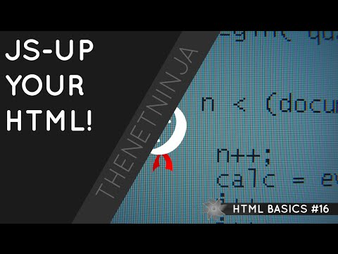 HTML Tutorial for Beginners 16 - Adding JavaScript to HTML