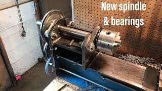 New headstock bearings & spinde. Home made lathe part 13
