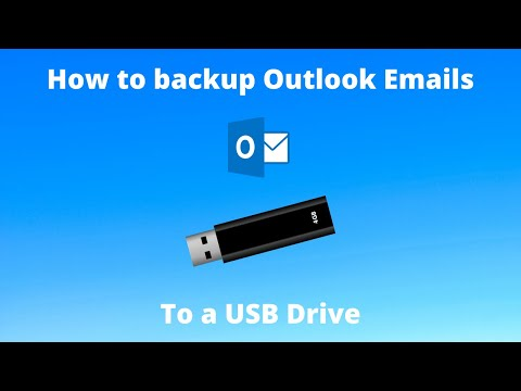 How to Backup Outlook Emails To a USB Drive - Using a PST File