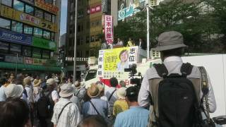街頭演説・植木こうじ氏、二見伸明氏、浦野さとみ氏、志位和夫氏 @中野...