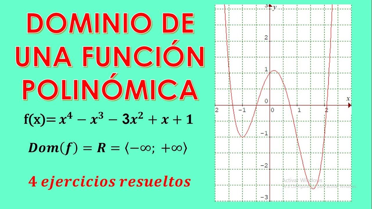 Dominio De Una Función Polinómica Dominio De Una Función Polinómica De Grado 2 3 Y 4 Youtube