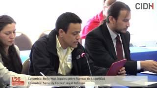 Colombia: Reformas legales sobre fuerzas de seguridad