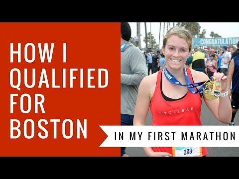HOW TO QUALIFY FOR THE BOSTON MARATHON (IN YOUR FIRST MARATHON)