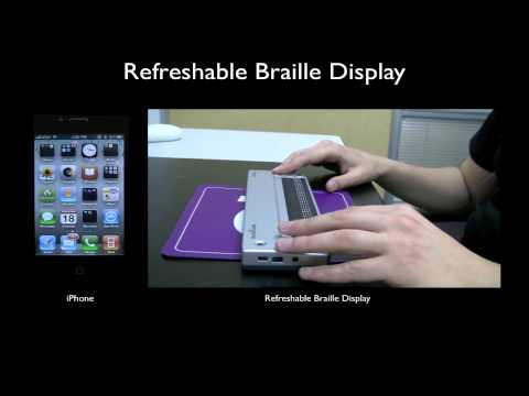 Refreshable Braille Display with iPhone 4G Tutorial