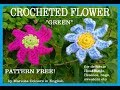 "Crocheted Flower ""green"" Free Pattern by Maricita Colours in English"