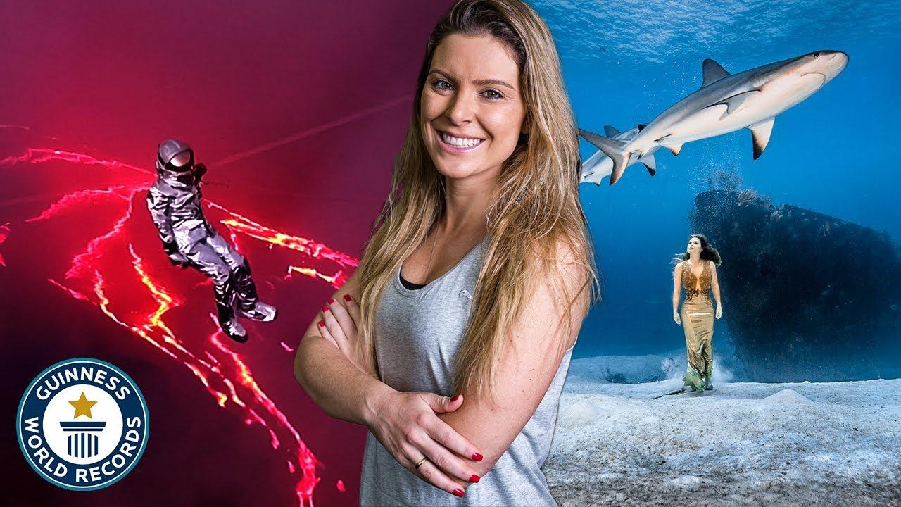 Brazilian wildlife adventurer Karina Oliani breaks record for lava lake  traverse | Guinness World Records