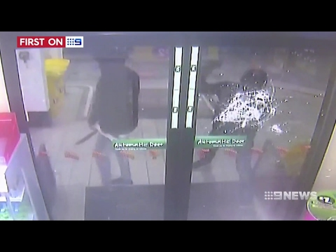 Nine News. African Bandits Rampage Petrol Station. (Melbourne Multicultural Nightmare)