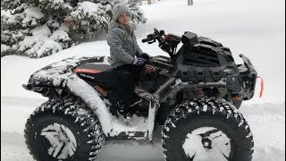 Little girl gets MASSIVE ATV stuck!
