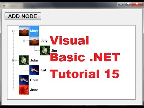 Visual Basic  NET Tutorial 15 - How to use TreeView Control in Visual Basic  (VB NET)