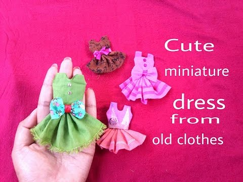 Doll Dresses Easy And Cute Miniature Dress Making Out Of Waste