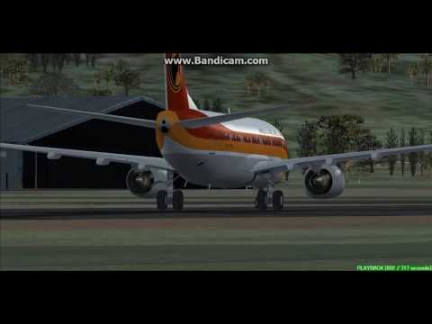 TAAG Angola Airlines B737 Sao Tome International Airport FPST Landing FS9