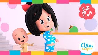 If you are happy clap your hands. Cleo and Cuquin Nursey Rhymes | Familia Telerín songs for children