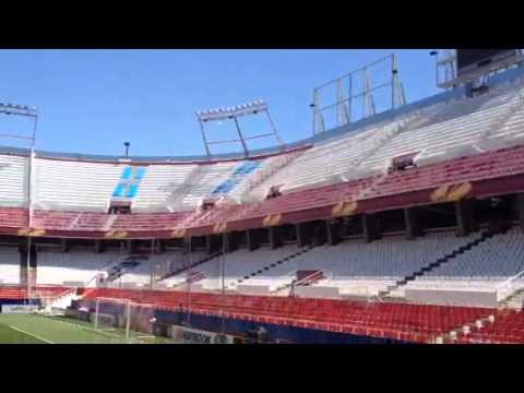 Panoramica stadio Pizjuan di Siviglia