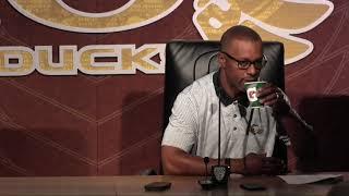 Oregon Head Coach Willie Taggart Monday press conference ahead of Nebraska 9/4/17