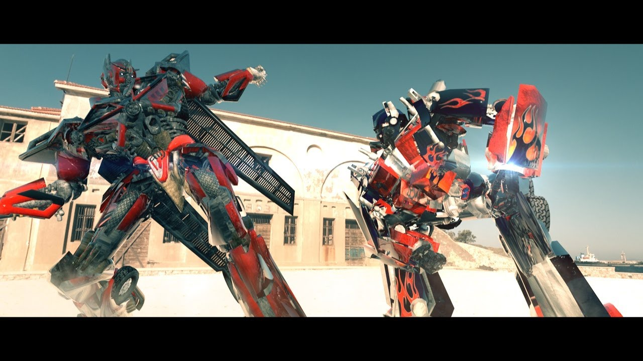 transformers - age of extinction 3d animation - optimus prime vs