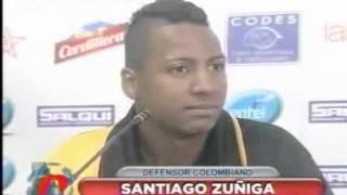 Santiago Zuñiga tas su llegada a el Club The Strongest de Bolivia