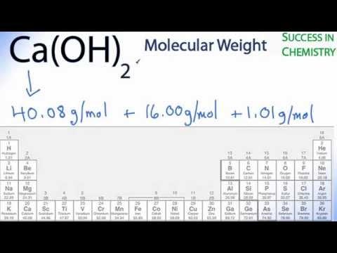 Molar Mass / Molecular Weight Of Ca(OH)2 : Calcium Hydroxide