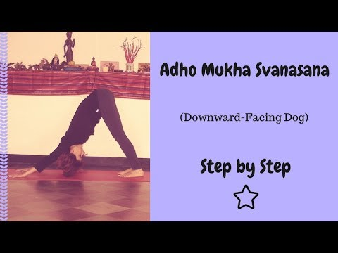 adho mukha svanasana  downward facing dog stepstep