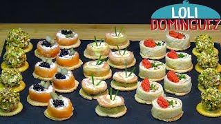 Canapés o aperitivos de ahumados. ESPECIAL NAVIDAD. Fáciles y deliciosos. Loli Domínguez