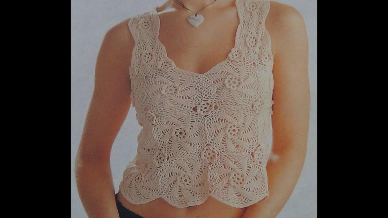 como tejer blusa con flores a crochet   viyoutube