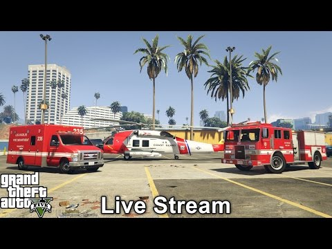 GTA 5 Rescue Mod V Live Stream | Firefighter, Paramedic & Coast Guard Mod |  Tornado & Thunder Storm