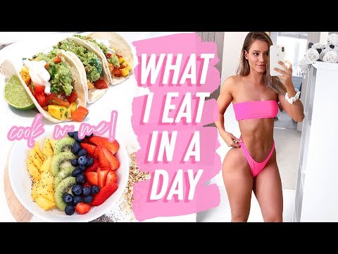 WHAT I EAT IN A DAY TO GET LEAN & FIT   COOK HEALTHY MEALS WITH ME   HelloFresh