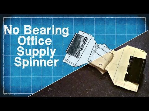 Fidget Spinner Without a Bearing -Easy DIY Paper Fidget Spinner - DIY with Cly Ep. 5