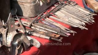 The tools of the roadside dentist - Varanasi