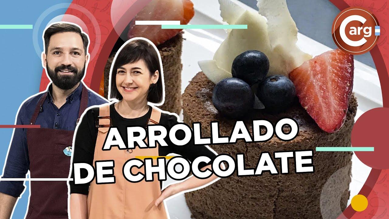 ARROLLADO DE DULCE DE LECHE Y CHOCOLATE
