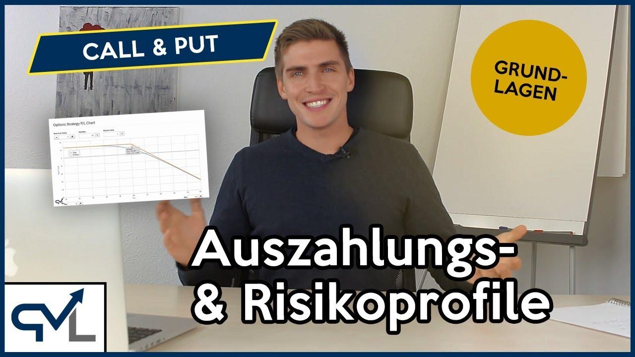 Das Risiko Von Optionen Auszahlungs Und Risikoprofile Inkl Beispiel Call Put Erklarung Youtube