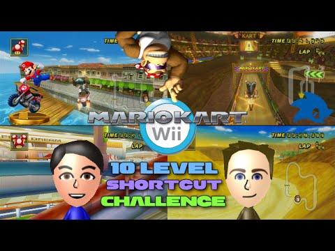 Mario Kart Wii - Colton vs Matt - 10 Level Shortcut Challenge