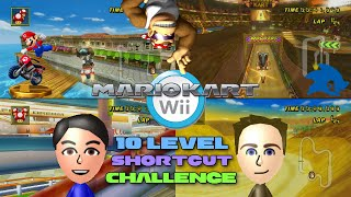 Mario Kart Wii - Colton vs Matt - 10 Level Shortcut Challenge