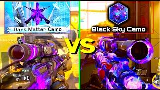 DARK MATTER VS BLACK SKY CAMO REACTION! WHICH CAMO IS BETTER?