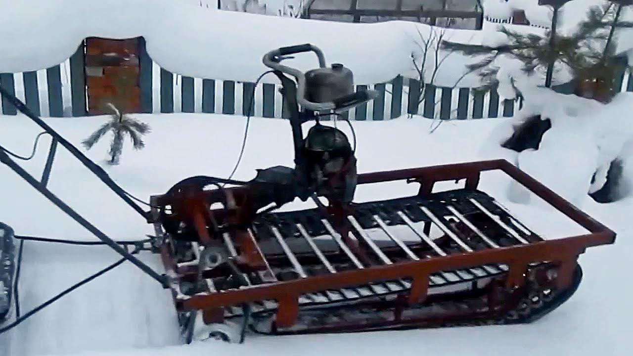 Снегоход своими руками домашних условиях