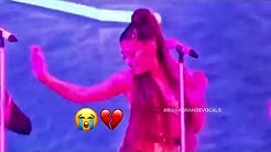 Ariana Grande was crying during thank u next in Pittsburgh, the hometown of her ex Mac Miller...