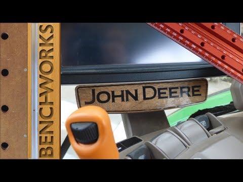 walnut and epoxy tractor trim