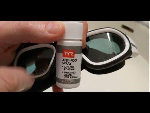 TYR Anti Fog Spray Demo - This Works!!