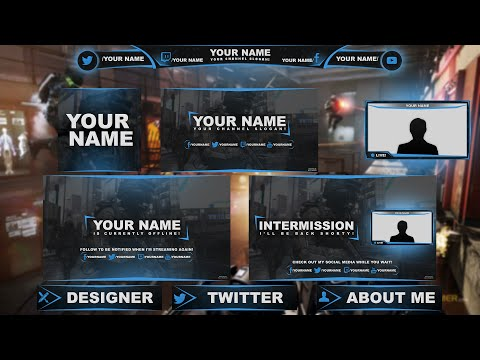 free twitch hitbox streaming overlay template pack 2015 tutorial funnydog tv. Black Bedroom Furniture Sets. Home Design Ideas