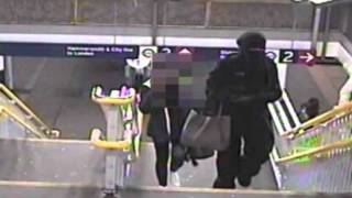 An acid thrower stalks her victim in full niqab