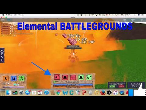Elemental BattleGrounds(ROBLOX!!!) ep1 fire/grass