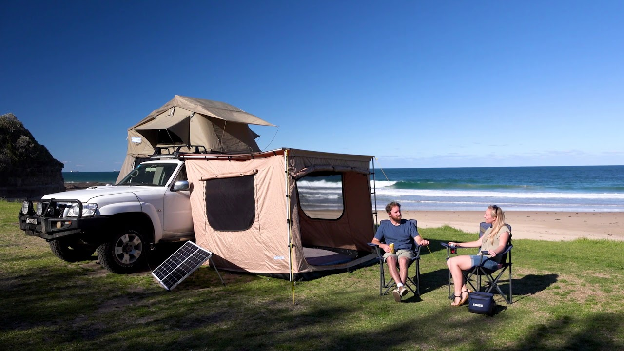 Adventure Kings Awning Tent - YouTube