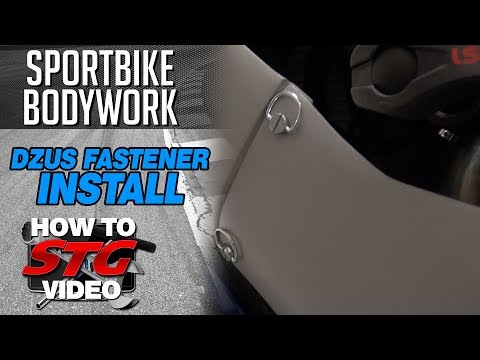 How To Install Dzus Fasteners On New Motorcycle Bodywork From Sportbiketrackgear.com