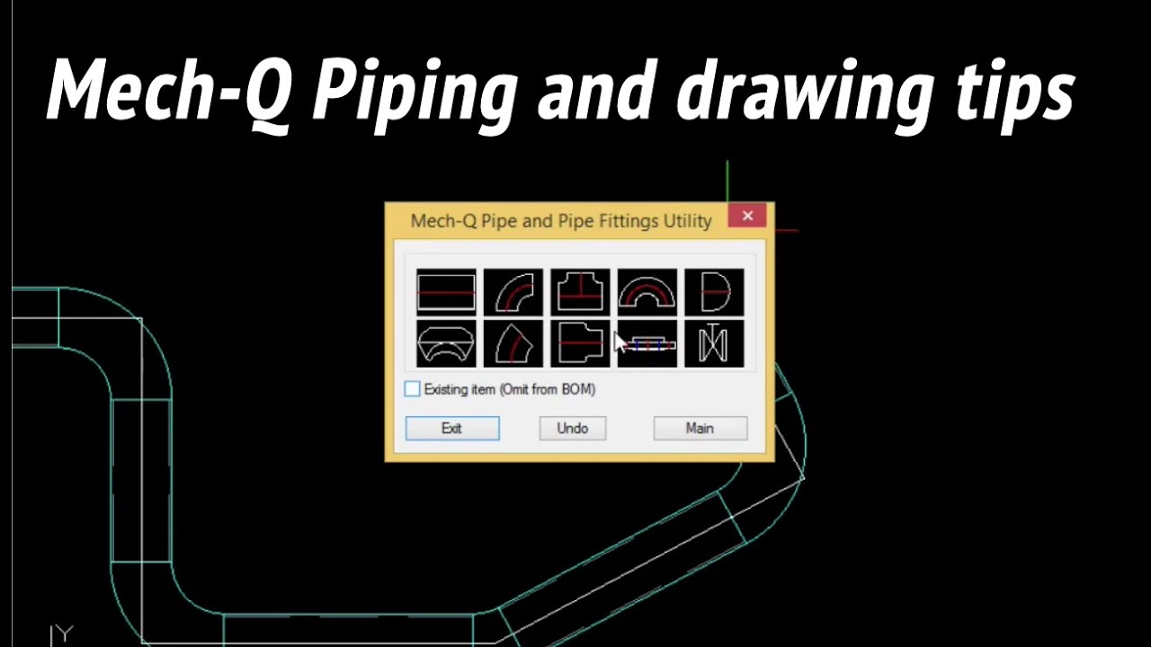 A straightforward way to draw piping + some AutoCAD tips