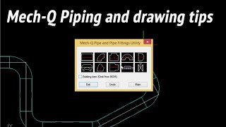 A straightforward way to draw piping + some AutoCAD tips.