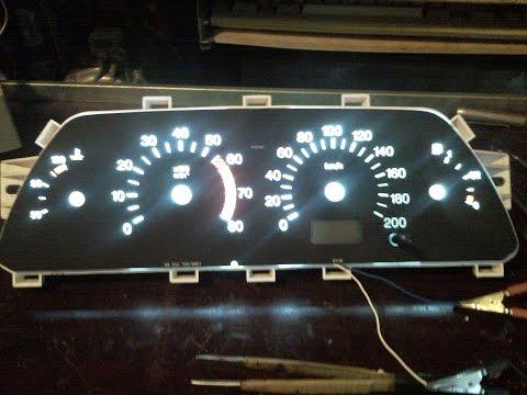 Панель приборов ВАЗ 2110 тюнинг своими руками смотреть онлайн