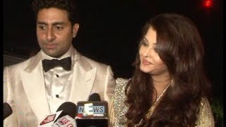 Abhishek and Aishwarya Rai at Amitabh Bachchan's birthday party.