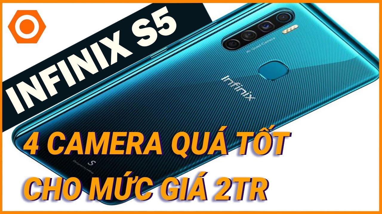 """Smartphone PHÁ GIÁ với 4 camera, màn hình """"nốt ruồi"""" nhưng giá chỉ hơn 2tr - Cận cảnh Infinix S5"""